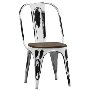 Кухонный стул Tolix Marais Chair Vintage White Wood