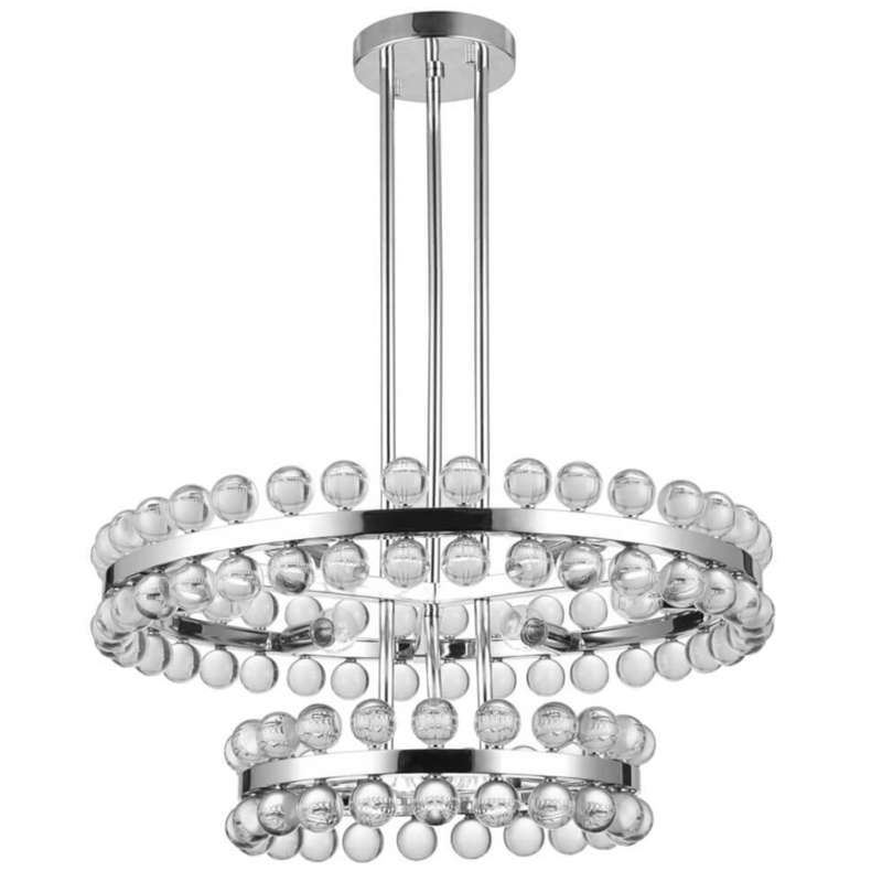 Sacramento Transparent Balls Two Circle Chandelier