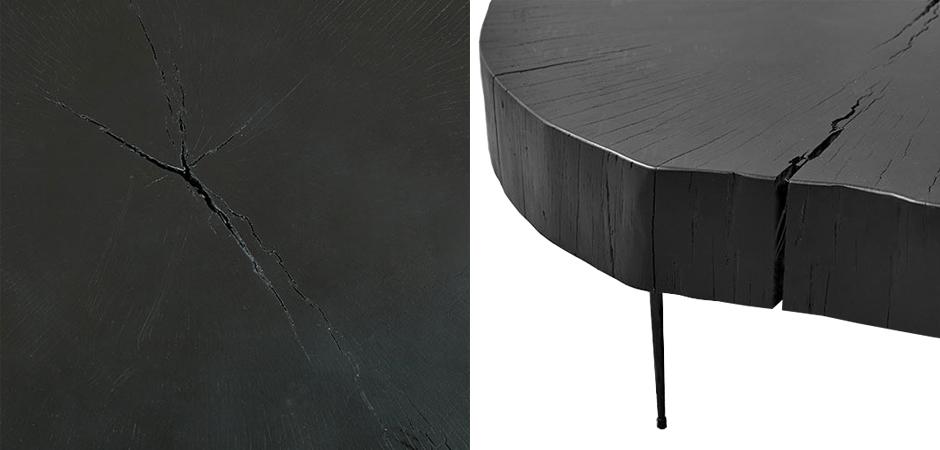 Kofejnyj Stol Saw Cut Black Wood Coffee Table Kupit Vygodno S Dostavkoj Po Cene 87 000 Rub Loft Concept