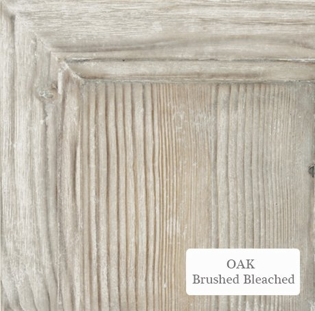 Oak brushed bleached