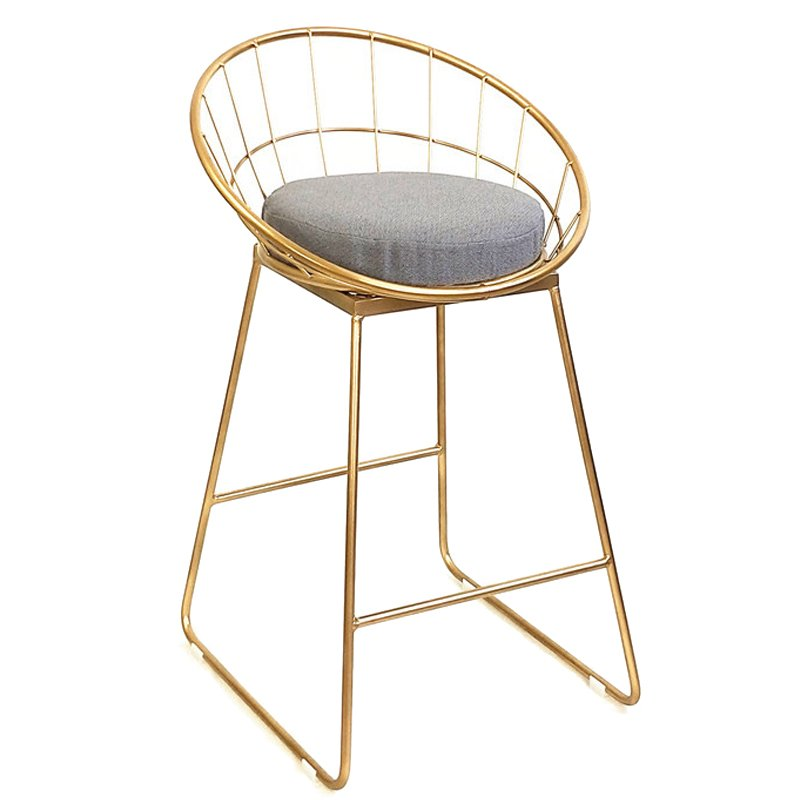 Барный стул Iron bar chair Golden