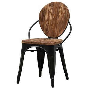 Стул Tolix chair Wooden Black