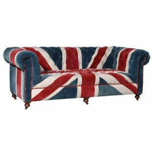 William Sofa Union Jack Velvet Andrew Martin