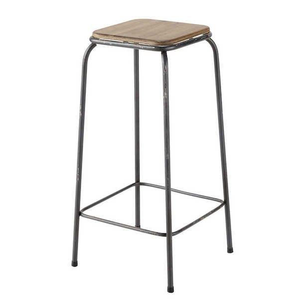 Барный стул Industrial Metal Rust Kraft Barstool