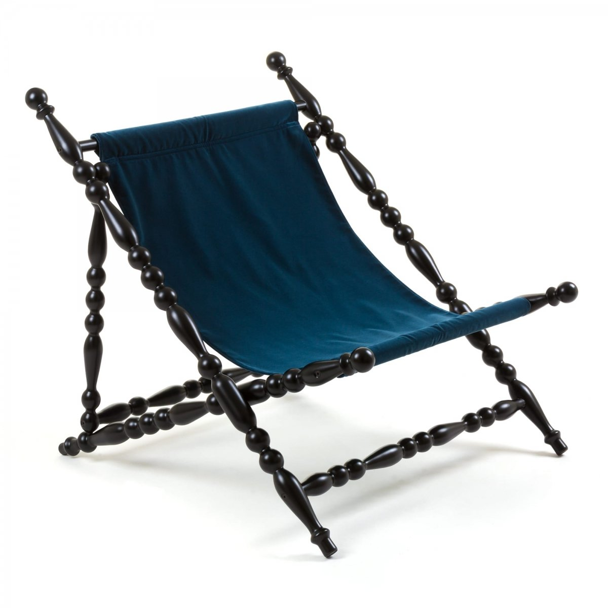 Стул Seletti Heritage Foldable Deckchair Blue