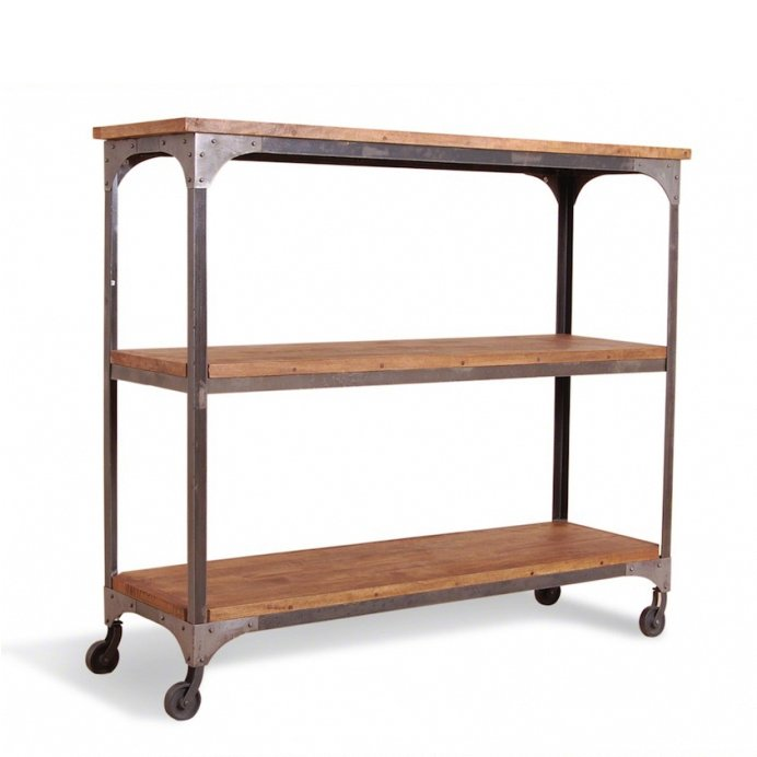 Стеллаж Industrial Metal Rust Shelf Rack on Wheels