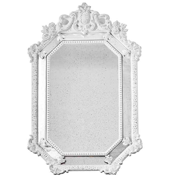 Зеркало Antique ornament White