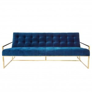Софа Navy Velvet Apartment Sofa