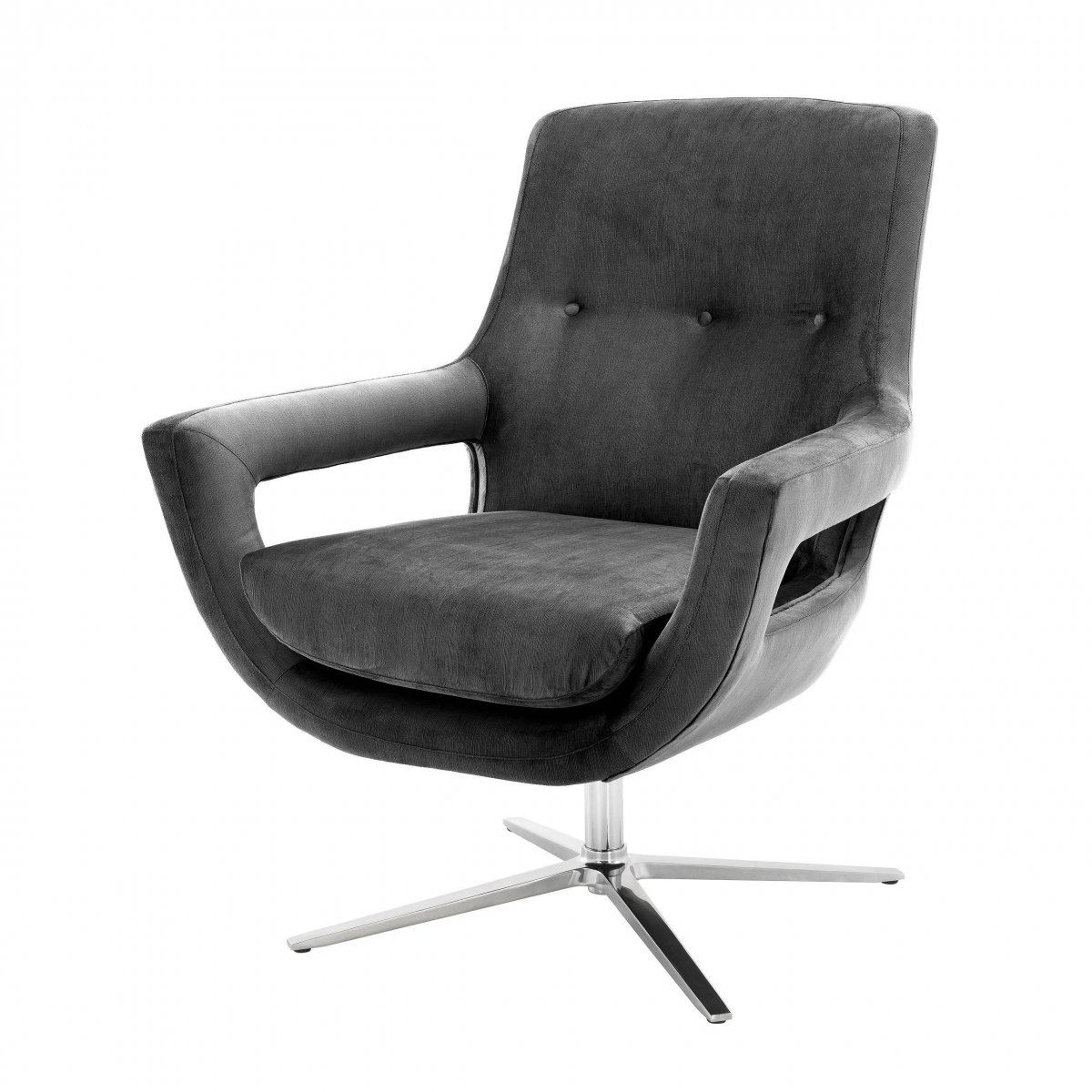 Кресло Eichholtz Swivel Chair Flavio Grey