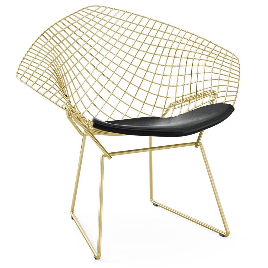 Кресло Bertoia Diamond Chair Gold