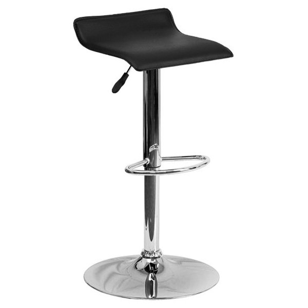 Барный стул Chrome And Black Bar Stool