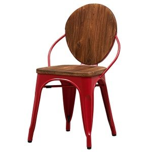Стул Tolix chair Wooden Red