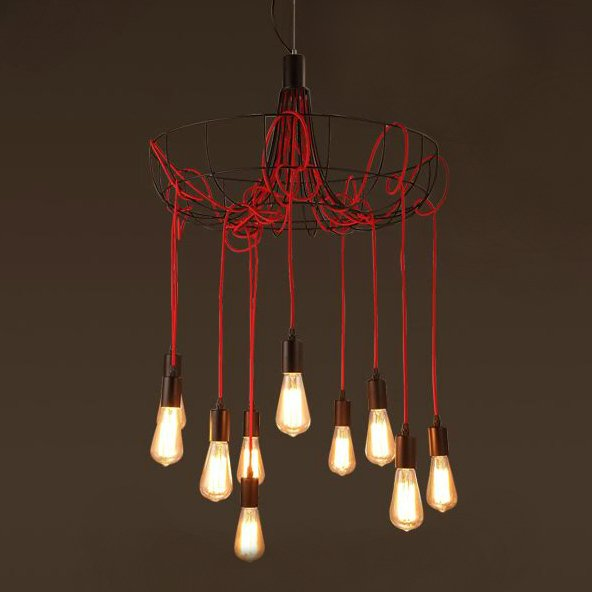 Люстра Blood Wire Chandelier Red 10