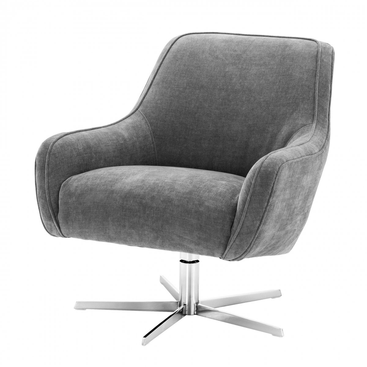 Кресло Eichholtz Swivel Chair Serena Grey