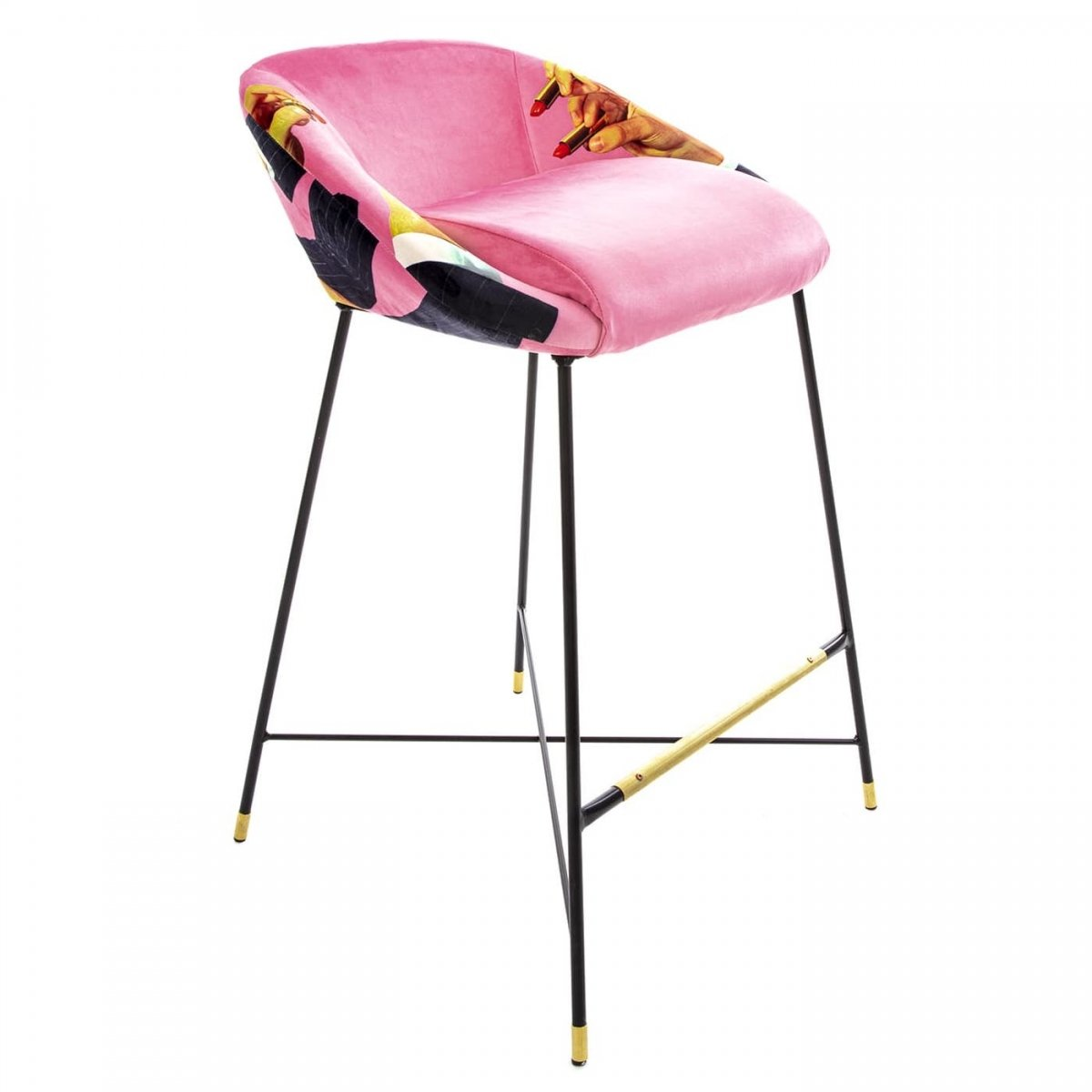 Барный стул Seletti High Stool Pink Lipsticks