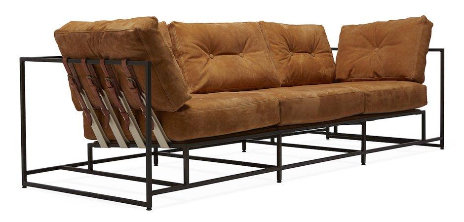 Диван Dirt Leather Sofa Loft Concept