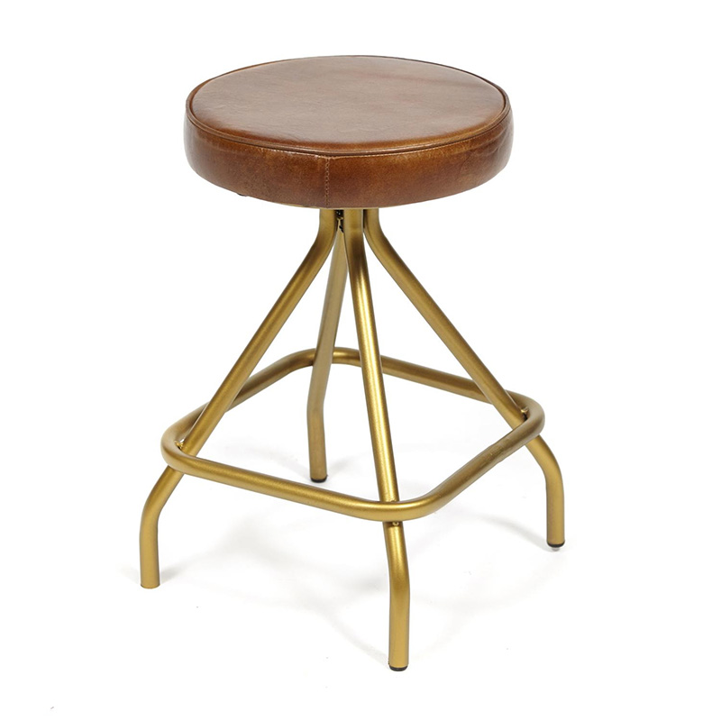 Стул из кожи буйвола Industrial leather stool