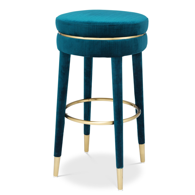 Барный стул Eichholtz Bar Stool Parisian blue