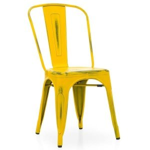Кухонный стул Tolix Chair Vintage Yellow
