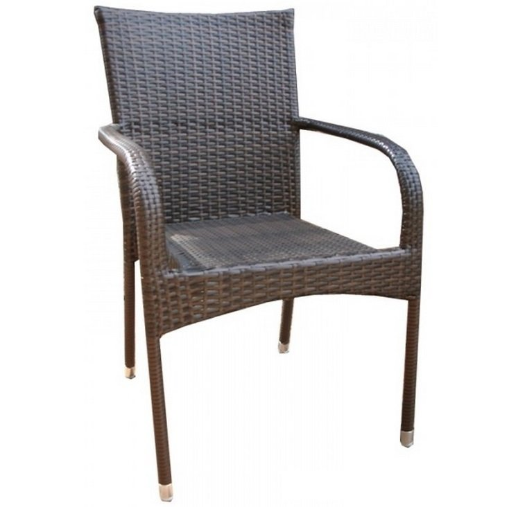 Стул Rottan chair brown