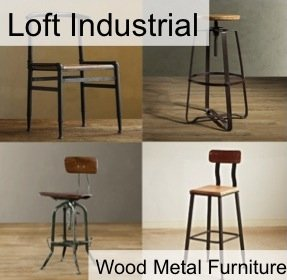 Loft Industrial Wood Metal Furniture