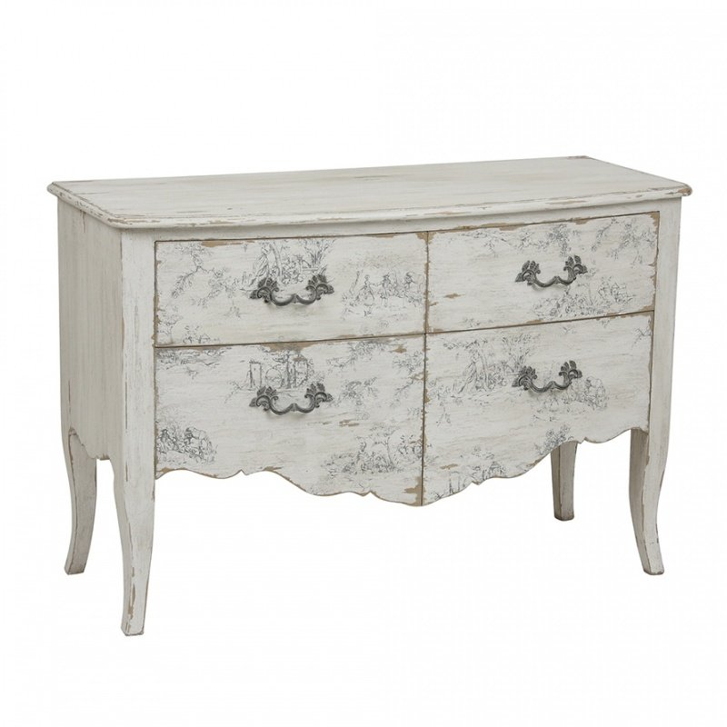 COMMODE LYS EN PIN MASSIF L125 CM  FLORENTIN HFX1