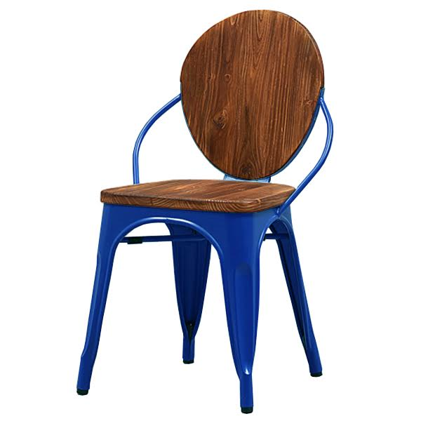Стул Tolix chair Wooden Blue