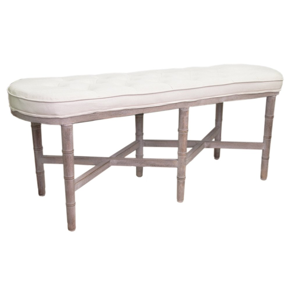 Банкетка Tufted Long Chateau Bench ivory