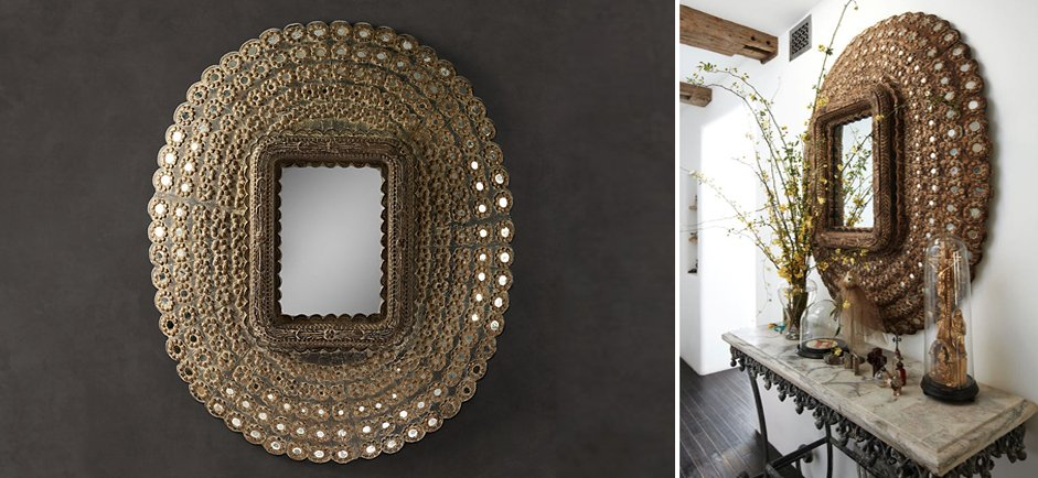 "Зеркало ""Павлин"" Peacock Mirrors Restoration Hardware купить"