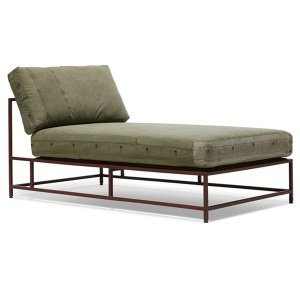 Кушетка Olive Military Fabric Sectional Lounge
