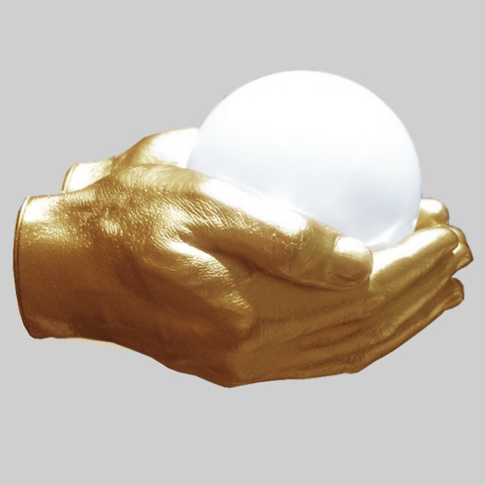Бра Glowing Ball In The Gold Hands