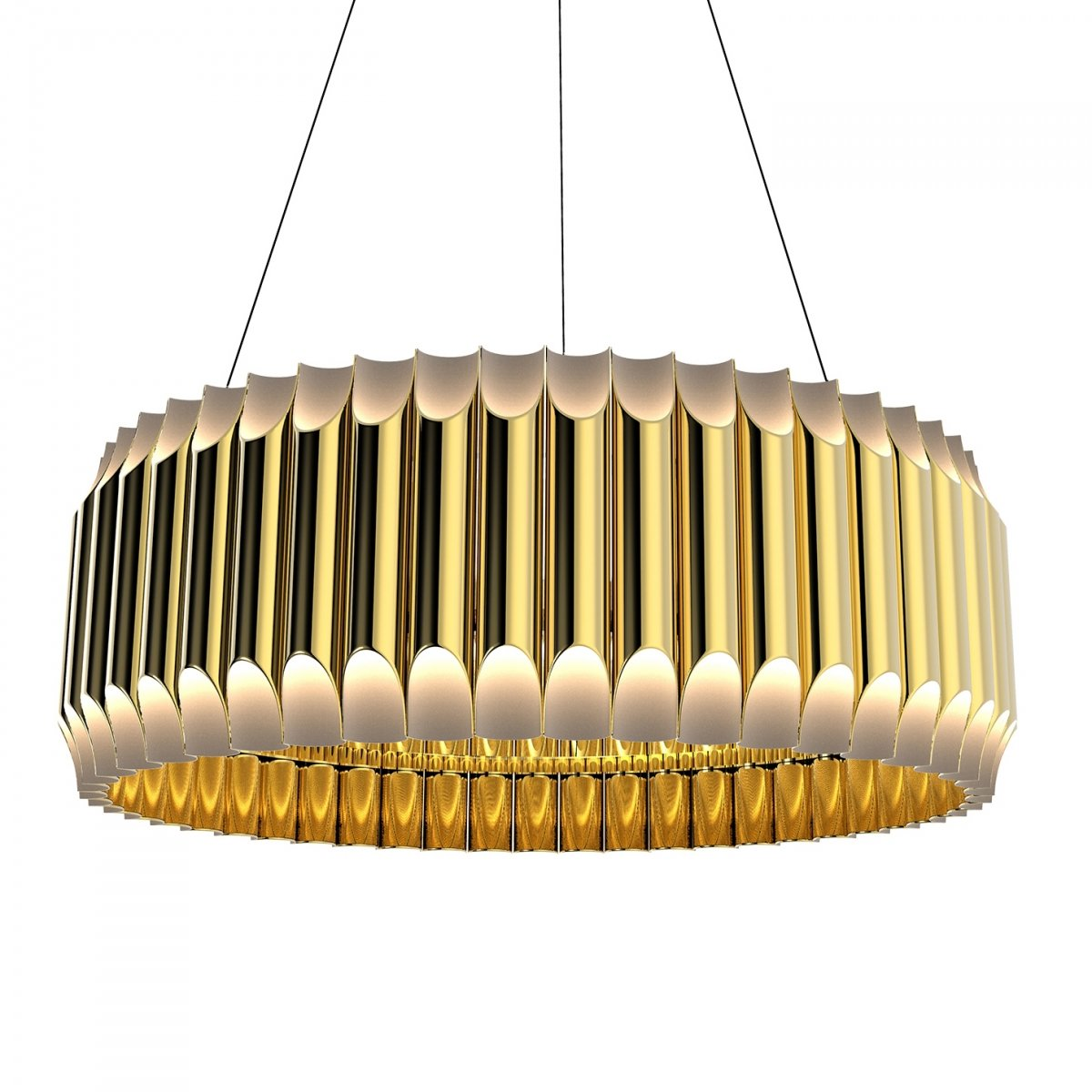 Люстра GALLIANO ROUND SUSPENSION LIGHT by DELIGHTFULL Gold