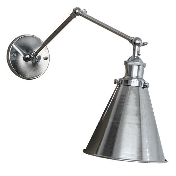 БРА 20TH C LIBRARY SINGLE SCONCE SILVER II