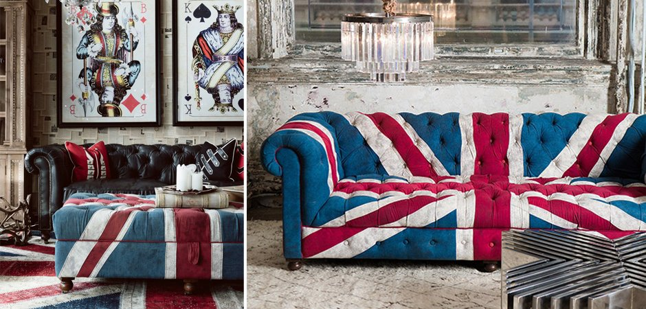 Диван William Sofa Union Jack Velvet Andrew Martin купить