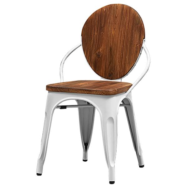 Стул Tolix chair Wooden White
