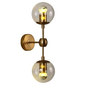 Бра Modo Sconce 2 Globes Gold