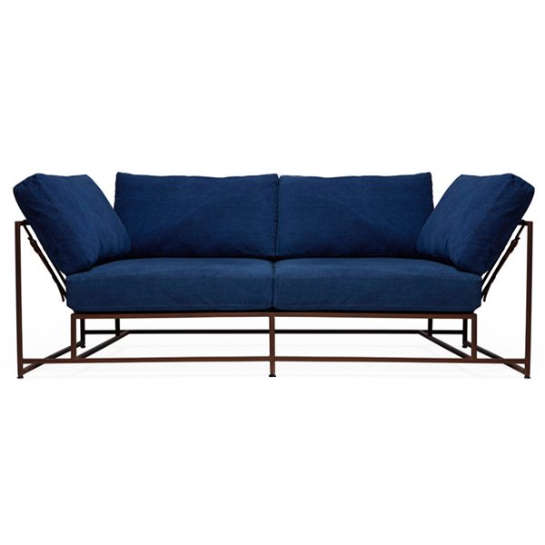 Двухместный диван Indigo Denim and copper Two Seat Sofa
