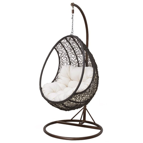 Кресло Swing chair outdoor Coffee Egg