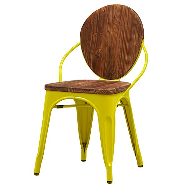Стул Tolix chair Wooden Yellow