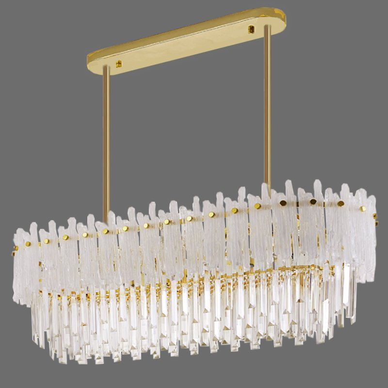 Люстра Murano Glass ICE Chandelier Rectangle