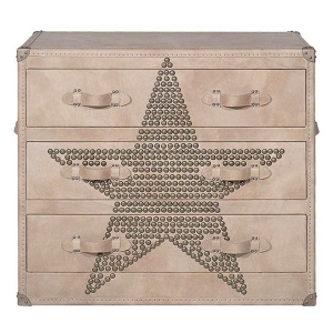 Комод Andrew Martin Howard STAR Studded Parchment Chest of Drawers